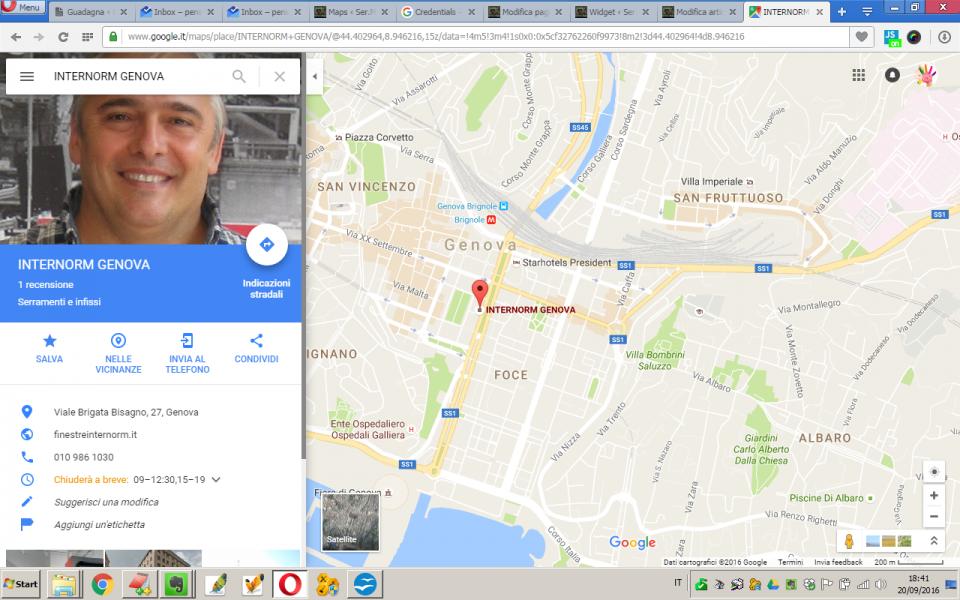 Finestre porte infissi e serramenti Genova… amici di Google Maps?!?!?