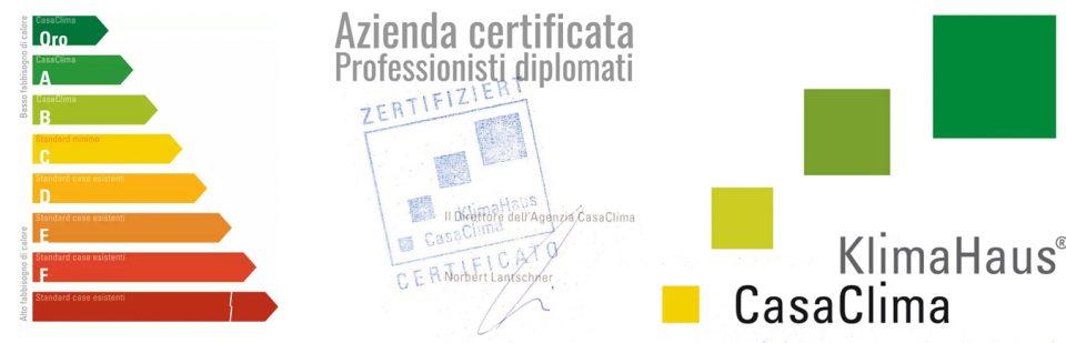 Azienda certificata CasaClima e tecnici diplomati KlimaHaus